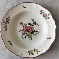 Piatto fondo con fiori - Assiette creuse avec fleurs